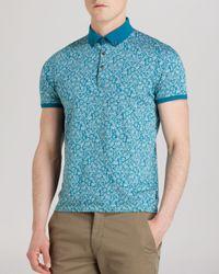 Ted Baker | Blue Spyda Printed Polo Shirt - Slim Fit for Men | Lyst