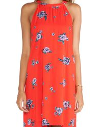 Splendid - Orange Ashbury Blooms Tank Dress - Lyst