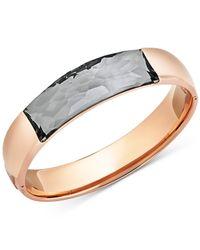 Swarovski | Pink Rose Gold-tone Grey Crystal Dome Bangle Bracelet | Lyst