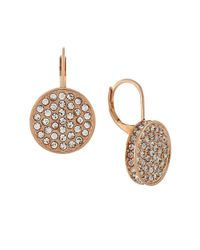 Vince Camuto | Metallic Shields Of Pave Disc Earrings | Lyst