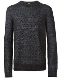 Dondup - Black 'myanmar' Sweater for Men - Lyst