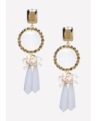 Bebe - Gray Lucite Statement Earrings - Lyst