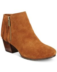 Kenneth Cole Reaction | Brown Pillates Fringe Booties | Lyst