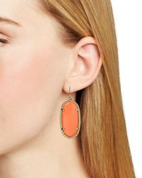 Kendra Scott | Orange Elle Earrings | Lyst