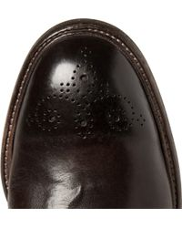 Dolce & Gabbana - Brown Leather Brogues for Men - Lyst