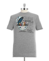 Original Penguin | Gray Globe Graphic T-shirt for Men | Lyst