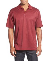 Bugatchi - Red Jacquard Polo for Men - Lyst