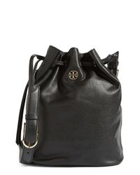 Tory Burch | Black Brody Leather Bucket Bag | Lyst