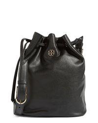 Tory Burch - Black Brody Leather Bucket Bag - Lyst