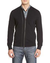 John Varvatos - Black Lightweight Knit Zip Jacket for Men - Lyst