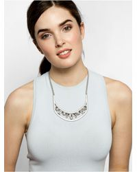 BaubleBar | Metallic Crystal Hera Collar - Antique Silver | Lyst