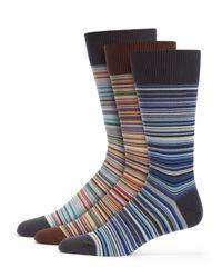 Paul Smith | Multicolor Striped Socks 3-Pack for Men | Lyst