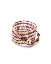 Chan Luu | Pink Rose Quartz Wrap Bracelet | Lyst