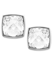 Swarovski - White Palladium-Plated Spike-Cut Crystal Stud Earrings - Lyst
