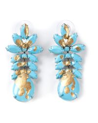 Tom Binns - Blue Crystal Earrings - Lyst