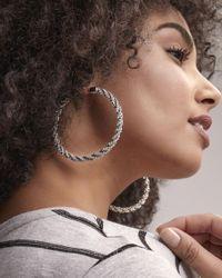 Addition Elle - Metallic Twisted Hoop Earrings - Lyst
