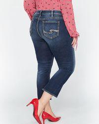 Addition Elle - Blue Silver Elyse Capri Jeans - Lyst