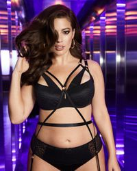 Addition Elle - Ashley Graham Black Lace Thong - Lyst