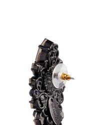 Erickson Beamon | Metallic 'golden Rule' Crystal Cluster Earrings | Lyst