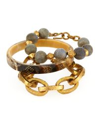 Ashley Pittman | Metallic Three-piece Bangle/bracelet Set | Lyst