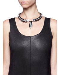 Eddie Borgo | Metallic Cyprus Plated Metal And Jade Necklace | Lyst