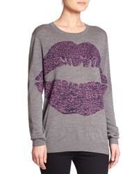 Markus Lupfer - Gray Big Smacker Merino Wool Sweater - Lyst