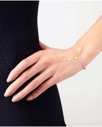 Marie-hélène De Taillac - Pink Daisy 18k Gold Charm Bracelet - Lyst