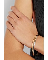 Inez & Vinoodh - Metallic 18-karat Gold And Sterling Silver Interlinked Bangles - Lyst