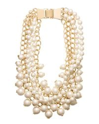 kate spade new york - Metallic Purely Pearly Statement Necklace - Lyst