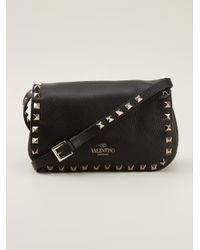 Valentino - Black Rockstud Cross Body Bag - Lyst