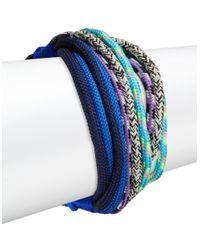 Trina Turk | Blue Rope Flex Bracelet | Lyst