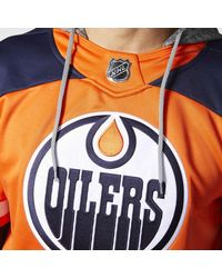 Adidas - Orange Oilers Jersey Replica Pullover Hoodie for Men - Lyst