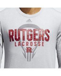 Adidas - Gray Scarlet Knights Lacrosse Tee for Men - Lyst