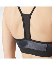 Adidas - Gray Strappy Print Bra - Lyst