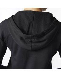 Adidas - Black Flyers Logo Shine Hoodie - Lyst