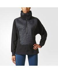 Adidas - Black Run Clima Polar Fleece Pullover - Lyst
