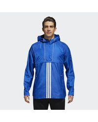 1ec16259f102 Lyst - adidas Id Woven Shell Jacket in Blue for Men