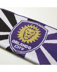 Adidas - Purple Orlando City Jacquard Scarf for Men - Lyst