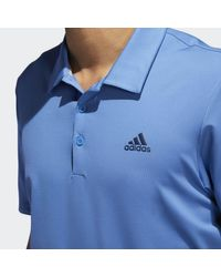 Adidas - Blue Ultimate 365 Solid Polo Shirt for Men - Lyst