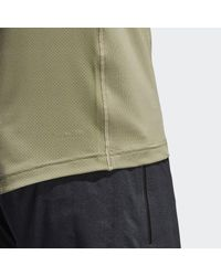 Adidas - Gray Freelift Fitted Elite Tee for Men - Lyst