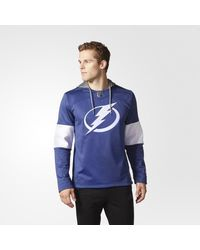 Adidas - Blue Lightning Jersey Replica Pullover Hoodie for Men - Lyst