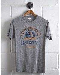 Tailgate Gray Men's Wvu Basketball T-shirt for men