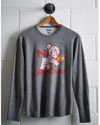 Tailgate Gray Men's Nebraska Thermal Shirt for men