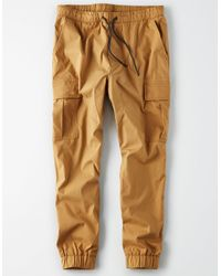 American Eagle - Natural Ae Twill Jogger for Men - Lyst