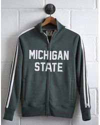 Tailgate Green Men's Michigan State Track Jacket for men