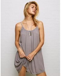 American Eagle Purple Don't Ask Why Slip Dress