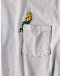 American Eagle - Gray Ae Embroidered Pocket T-shirt for Men - Lyst