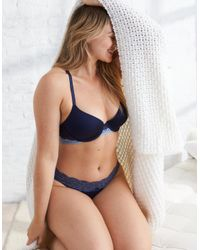 American Eagle - Blue Day-to-play® Plunge Pushup Bra - Lyst