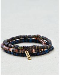American Eagle - Blue Ae Shell Bracelet Set for Men - Lyst