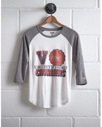 Tailgate White Women's Uva Cavaliers Baseball Shirt